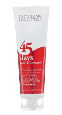 Шампунь-кондиционер для ярких красных оттенков Revlon Professional RCC Shampoo&Conditioner Brave Reds 275 мл: фото