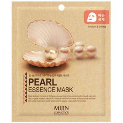 Маска для лица тканевая жемчуг Mijin PEARL ESSENCE MASK 25г: фото