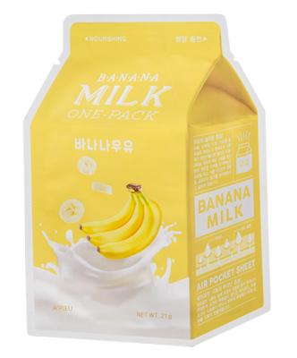 Тканевая маска молочная с бананом A'PIEU Banana Milk One-Pack 21г: фото