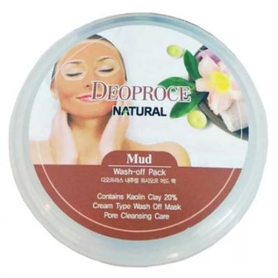 Маска для лица глиняная DEORPOCE MUD WASH-OFF PACK 100г: фото