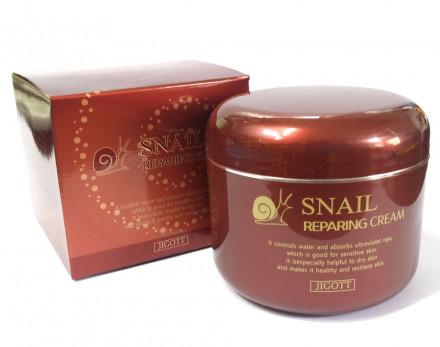 Крем восстанавливающий с муцином улитки JIGOTT Snail Reparing Cream: фото