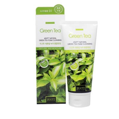 Пенка для умывания с экстрактом зеленого чая JIGOTT Natural Green Tea Foam Cleansing 180мл: фото