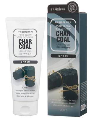 Маска-пленка угольная очищающая JIGOTT Char Coal Pure Clean Peel Off Pack: фото