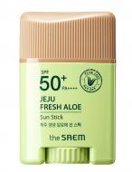 Солнцезащитный стик с экстрактом алоэ THE SAEM Jeju Fresh Aloe Sun Stick 16г: фото