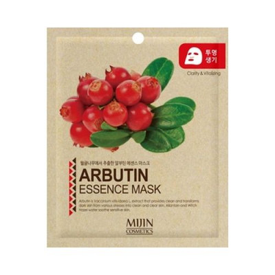 Маска для лица тканевая Арбутин ARBUTIN ESSENCE MASK 25г: фото