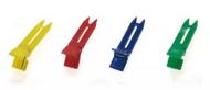 Зажимы для волос двойные пластиковые Sibel 6см разноцветные 20шт: фото